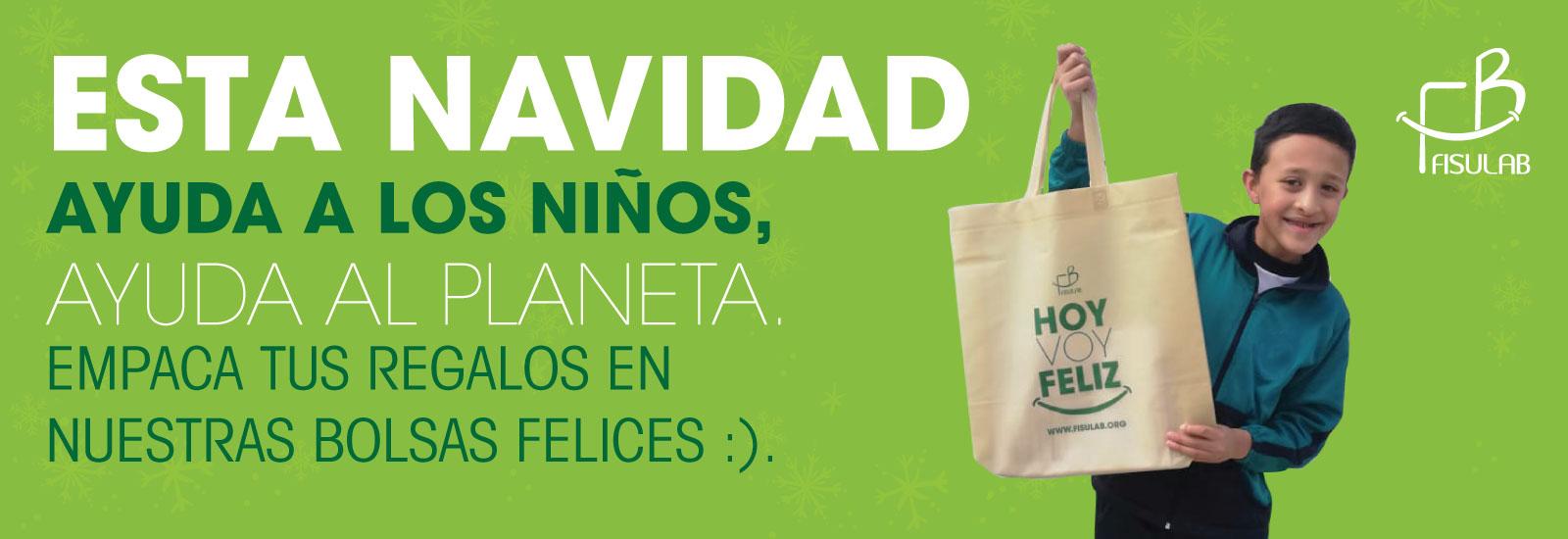 bolsas reciclables regalar navidad