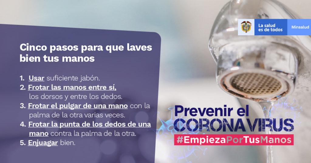 prevenir coronavirus lavado manos